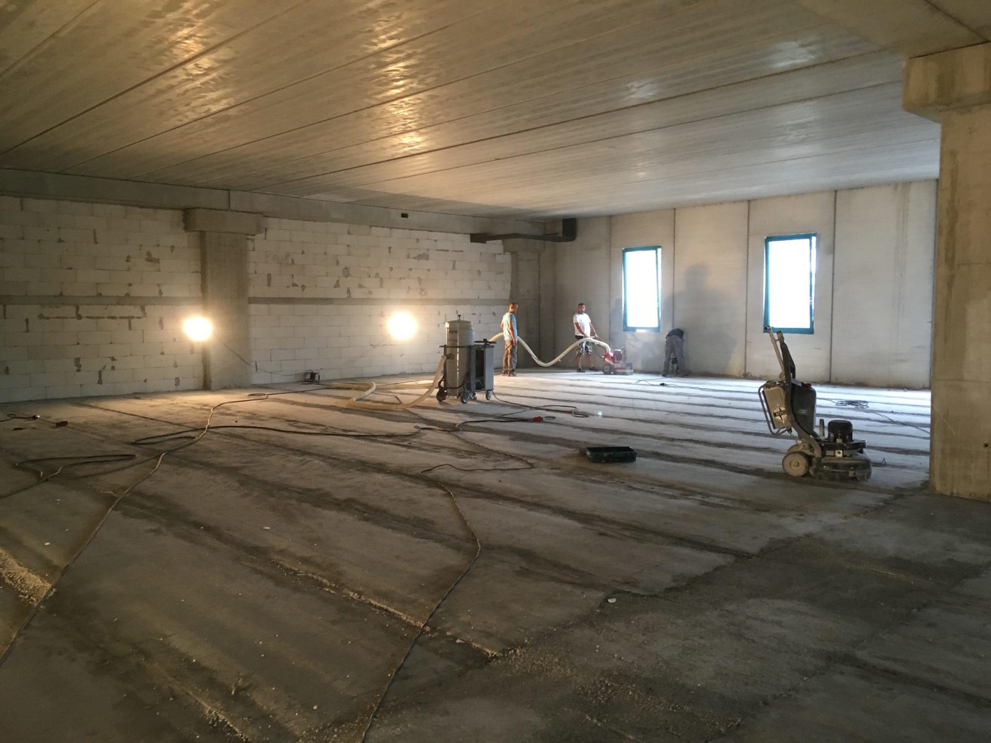 brušenje betona, niveliranje