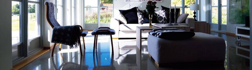 polirani betoni v interierju