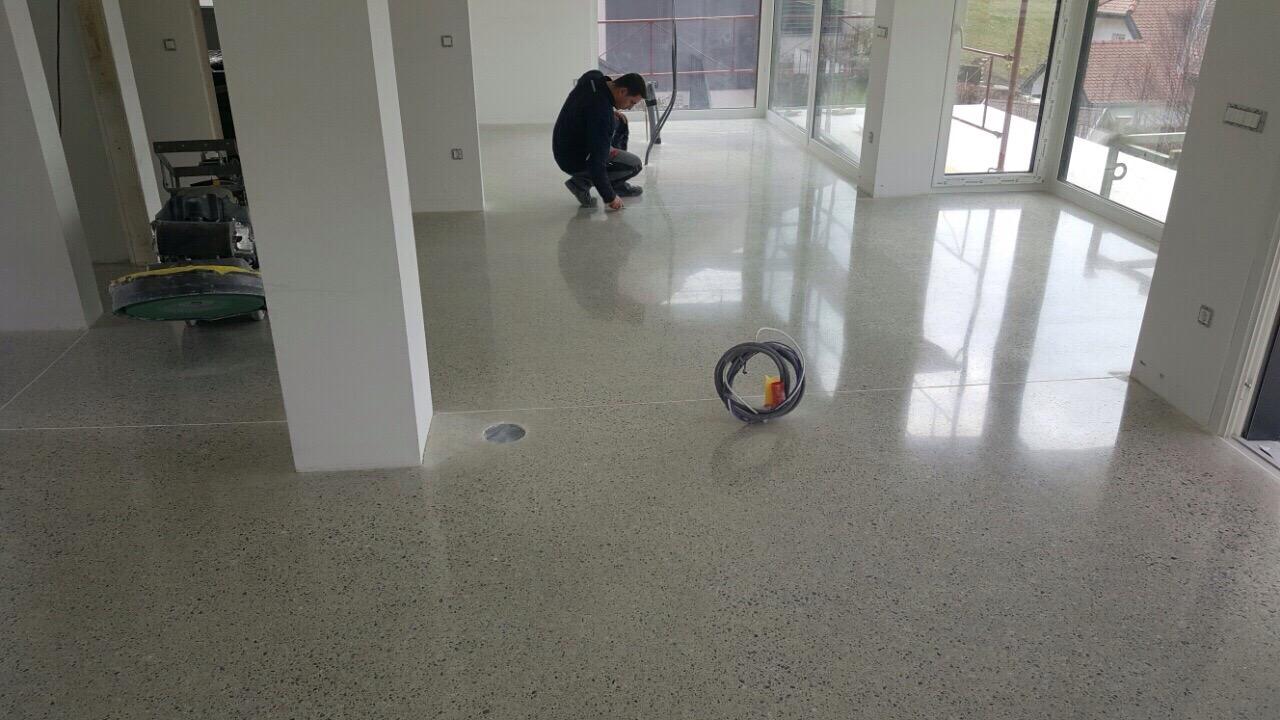 poliran beton interier