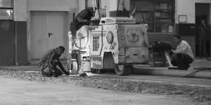priprava betonskega tlaka, frezanje, peskanje
