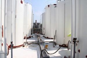 sanacija zadrževalnega bazena za kemikalije premaz odporen na kemikalije