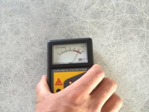 Merjenje vlage na betonu
