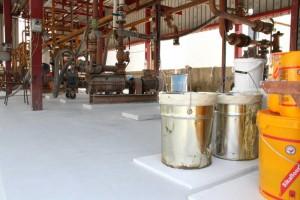 sanacija črpališča in pretakališča za kemikalije premaz odporen na kemikalije