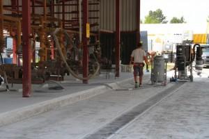 sanacija črpališča za kemikalije premaz odporen na obremenitve in kemikalije